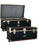 Vintage 36 inch Steamer Trunk With Wheels