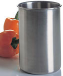 Brushed Stainless Steel Utensil Holder
