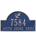 Anchor Arch Wall Address Plaque - Two-Line