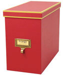 Cargo Atheneum File Storage Box - Red