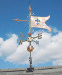 Banner Polished Copper Weathervane