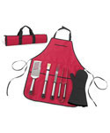 BBQ Apron and Tools Set
