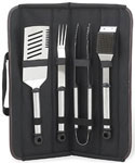 Twelve Piece Barbecue Tool Set - Black
