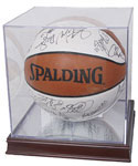Acrylic Basketball Display Case and Wood Base