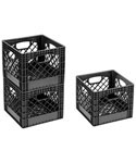Buddeez Milk Crate Storage Bin - Black
