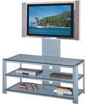 Burly Flat Panel TV Mount and Stand - Silver