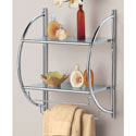 Chrome Bathroom Shelf with Towel Bars