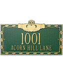 Claddagh Wall Address Plaque - Two-Line