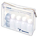 TSA Travel Bottles Kit with Travel Bottle Bag