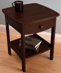 Curved Night Stand - Walnut
