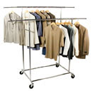 Double Bar Commercial Chrome Garment Rack