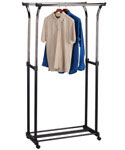 Double Flared Adjustable Clothes Rack