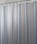Fabric Shower Curtain - Blue Essex Stripe