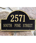 Arch Wall Address Plaque - Estate Two-Line