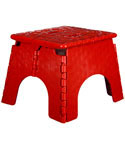 E-Z Foldz Folding Step Stool - Red