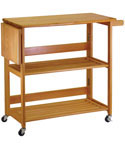 Folding Kitchen Cart - Light Oak