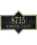 Hampton Wall Address Plaque - Two-Line