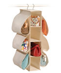 Canvas Hanging Purse Organizer