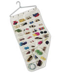 Hanging 80-Pocket Canvas Jewelry Organizer