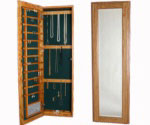 Large Wall Mounted Jewelry Cabinet - Magnetic Lock