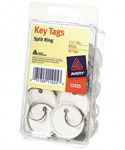 1.25 Inch Diameter Key Tags - White