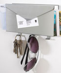 Mail Organizer and Key Rack - Brushed Aluminum