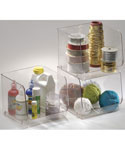 Stackable Clear Plastic Storage Bin - Large
