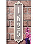 Lyon Vertical Home Address Plaque - Estate