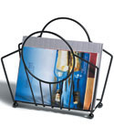Manhattan Magazine Rack - Black