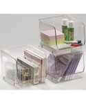 Stackable Clear Plastic Storage Bin - Medium