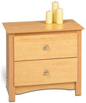 Sonoma Two-Drawer Night Stand - Maple