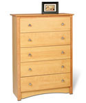Sonoma Five-Drawer Chest - Maple