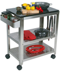 Outdoor Kitchen Cart with Granite Top