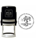 Palm Tree Personalized Holiday Address Stamp