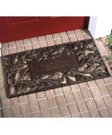 Aluminum Pinecone Personalized Doormat