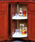 28 Inch Cabinet Lazy Susan - White - Door-Mounted