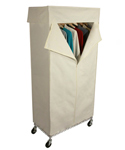 Rolling Wardrobe Closet and Canvas Cover