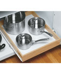 Wood Roll-Out Cabinet Shelf - 22 Inch Depth