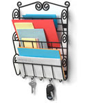 Scroll Mail Organizer and Key Rack