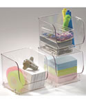 Stackable Clear Plastic Storage Bin - Small