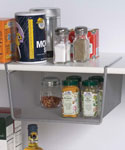 Silver Mesh Under Shelf Storage Basket - Small