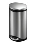 Step Trash Bin - Stainless Steel