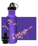 Stainless Steel Water Bottle - Sakura Wind