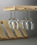 Wood Stemware Storage Rack