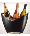 Vino Gondola Acrylic Wine Bucket - Black