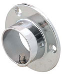 Mounted One Inch Closet Rod Flanges - Chrome
