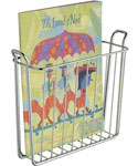 Wall Mount Chrome Magazine Rack