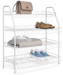 Four-Tier Wire Closet Shelves - White