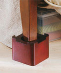 Stacking Wood Bed Risers - Mahogany