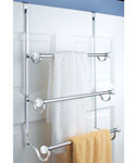 York Over Door Three-Tier Towel Rack